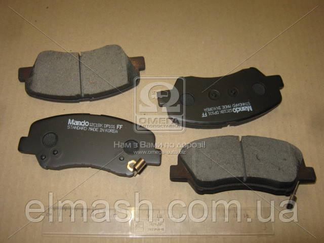 Колодки тормозные дисковые передние HYUNDAI ACCENT (пр-во Mando)