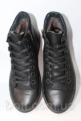 Черные кожаные ботинки, фото 3