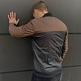 Мужская ветровка  бомбер куртка пилот  коричнево - черный, фото 2