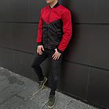 Мужская ветровка  бомбер куртка пилот  красно - черный, фото 3