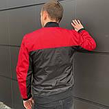 Мужская ветровка  бомбер куртка пилот  красно - черный, фото 2