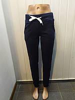 Спортивные женские брюки на флисе синий, 46