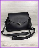 Женская маленькая сумка черного цвета, через плечо, клатч