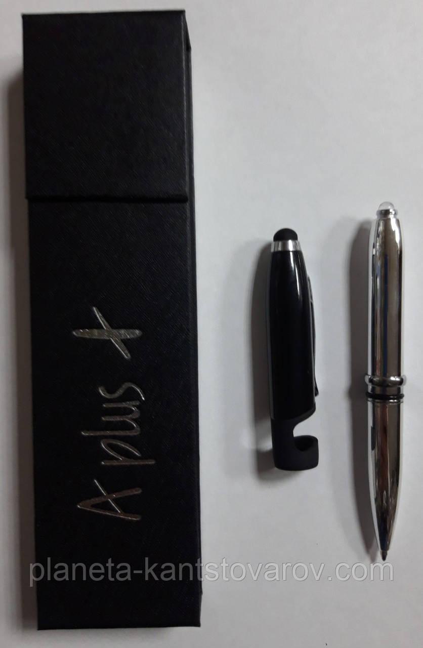 Ручка подарочная A Plus A-185  + фонарик + стилус+ подставка под смартфон