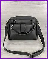 Женская стильная молодежная сумка серого цвета