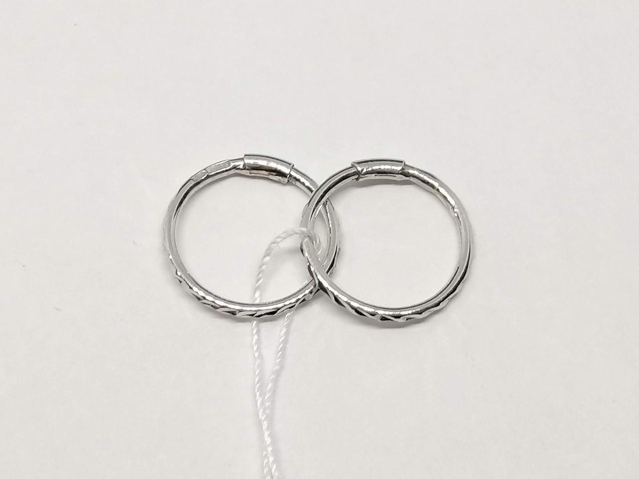 Срібні сережки з алмазною гранню. Артикул 460061С
