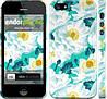 """Чехол на iPhone 5 цветочный узор м5 """"2501c-18"""""""
