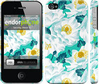 """Чехол на iPhone 4s цветочный узор м5 """"2501c-12"""""""