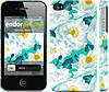 """Чехол на iPhone 4 цветочный узор м5 """"2501c-15"""""""