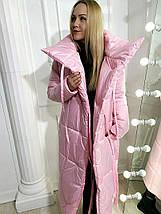 """Зимнее женское пальто-пуховик """"ОДЕЯЛО"""" с воротником-стойкой (6 цветов), фото 3"""