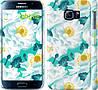 """Чехол на Samsung Galaxy S6 G920 цветочный узор м5 """"2501c-80"""""""