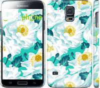 """Чехол на Samsung Galaxy S5 Duos SM G900FD цветочный узор м5 """"2501c-62"""""""