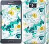 """Чехол на Samsung Galaxy Alpha G850F цветочный узор м5 """"2501c-65"""""""