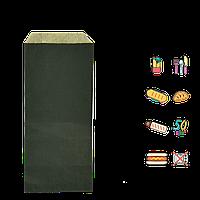 Бумажный Пакет чёрный 220х90мм (ВхШ) 50г/м² 100шт (1660)