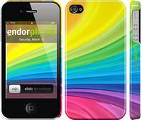 "Чехол на iPhone 4s Радужные полоски ""2386c-12"""