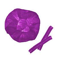 Шапочка фиолетовая SOFTEX размер M (пач. 100 шт)