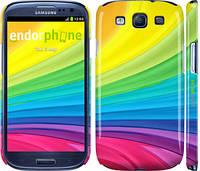 """Чехол на Samsung Galaxy S3 Duos I9300i Радужные полоски """"2386c-50"""""""