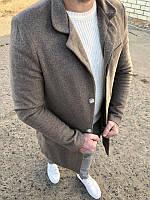 Мужское стильное пальто (серое) - Турция, фото 1
