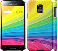 """Чехол на Samsung Galaxy S5 mini G800H Радужные полоски """"2386c-44"""""""