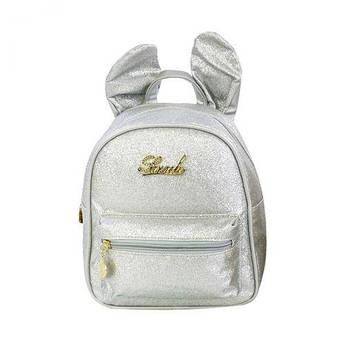 Детский рюкзак с ушками (серебристый) C32094