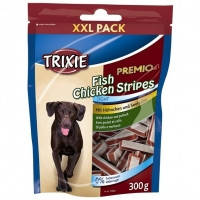 Тrixie PREMIO Chicken and Pollock Snack Stripes лакомство для собак с курицей и рыбой, 300г