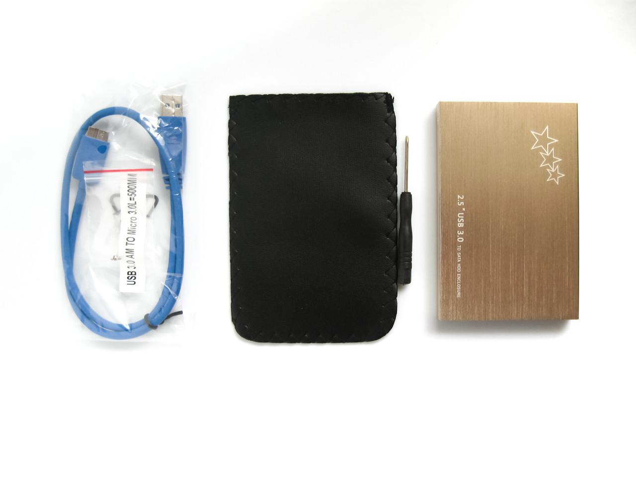 Внешний карман для HDD 2.5 дюймов, USB 3.0 - SATA, TRY S2516U3, до 3 TB, алюминий, серебристый