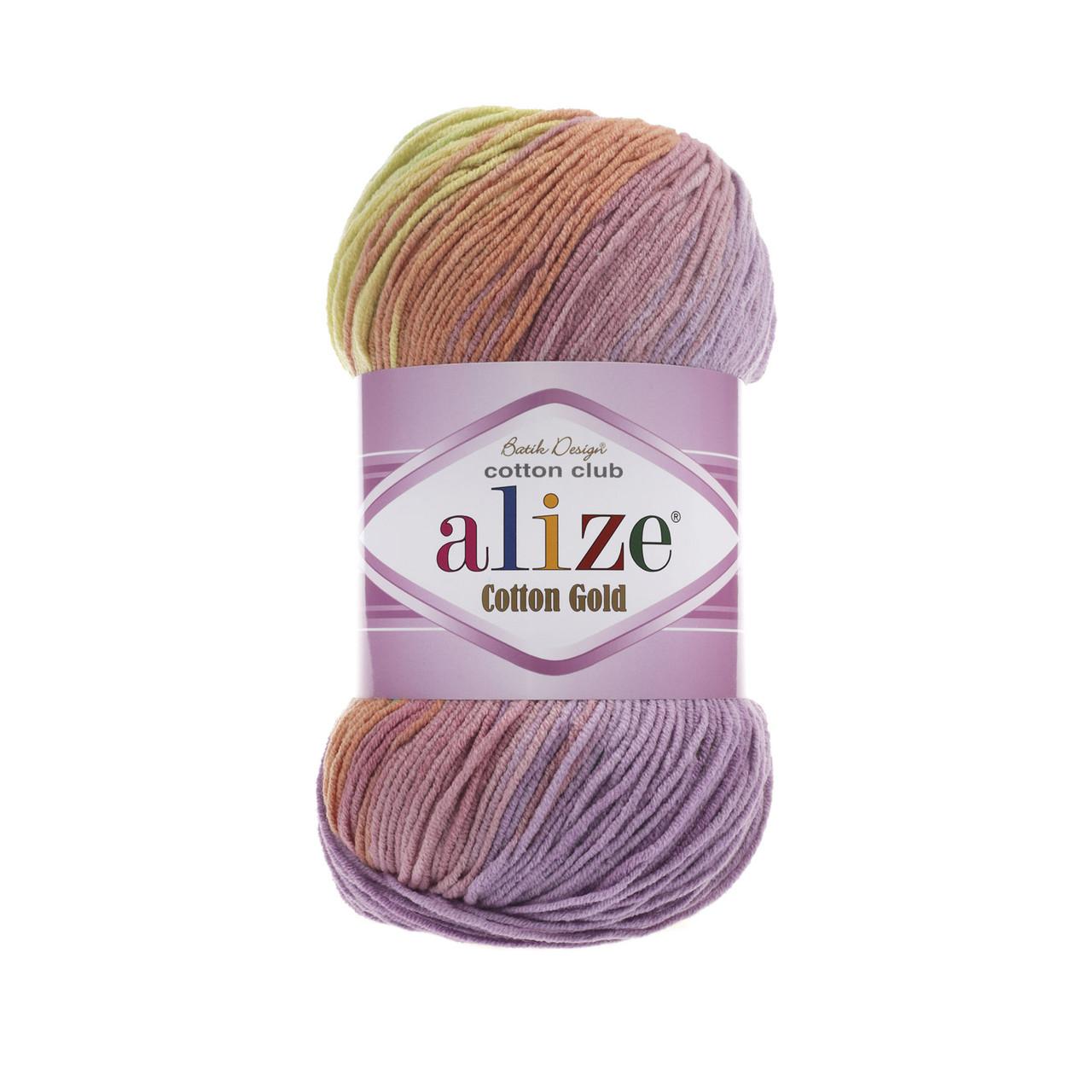 Пряжа Alize Cotton Gold Batik №3304