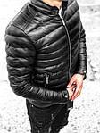 Мужская стильная курточка (черная) - Турция, фото 2