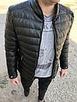 Мужская стильная курточка (черная) - Турция, фото 3