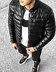 Мужская стильная курточка (черная) - Турция, фото 4
