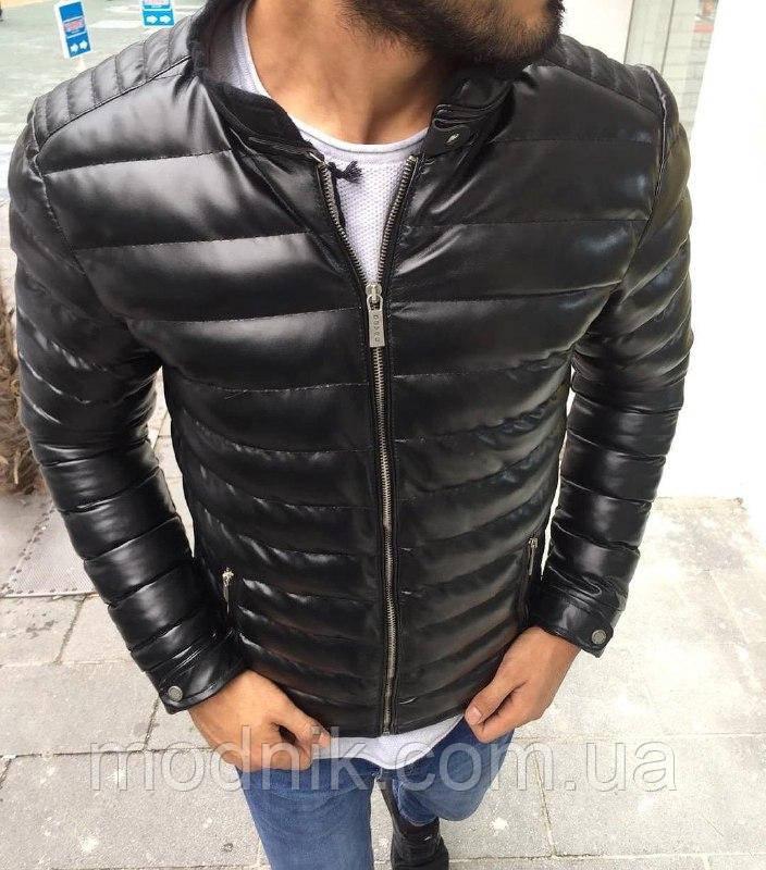 Мужская стильная курточка (черная) - Турция