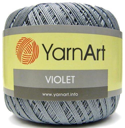 Нитки violet 50 гр. серые