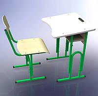 Парта одноместная + стул, Регулируемые, с полкой, комплект НУШ