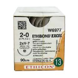 Шовный хирургический материал Этибонд ETHIBOND EXCEL 90 см 2/0 кол.-реж.W6937