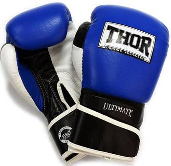 Боксерские перчатки Thor Ultimate 10, Натуральная кожа, синий
