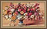 Картина Натюрморт цветы 330х700 мм в багетной раме №661