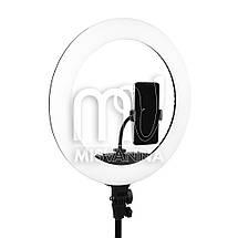 Профессиональная кольцевая лампа MakeUp KY-BK416 с штатив-треногой для косметологии, фото 2