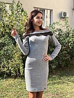 Женское платье из трикотаж-шерсть Poliit 8651, фото 1