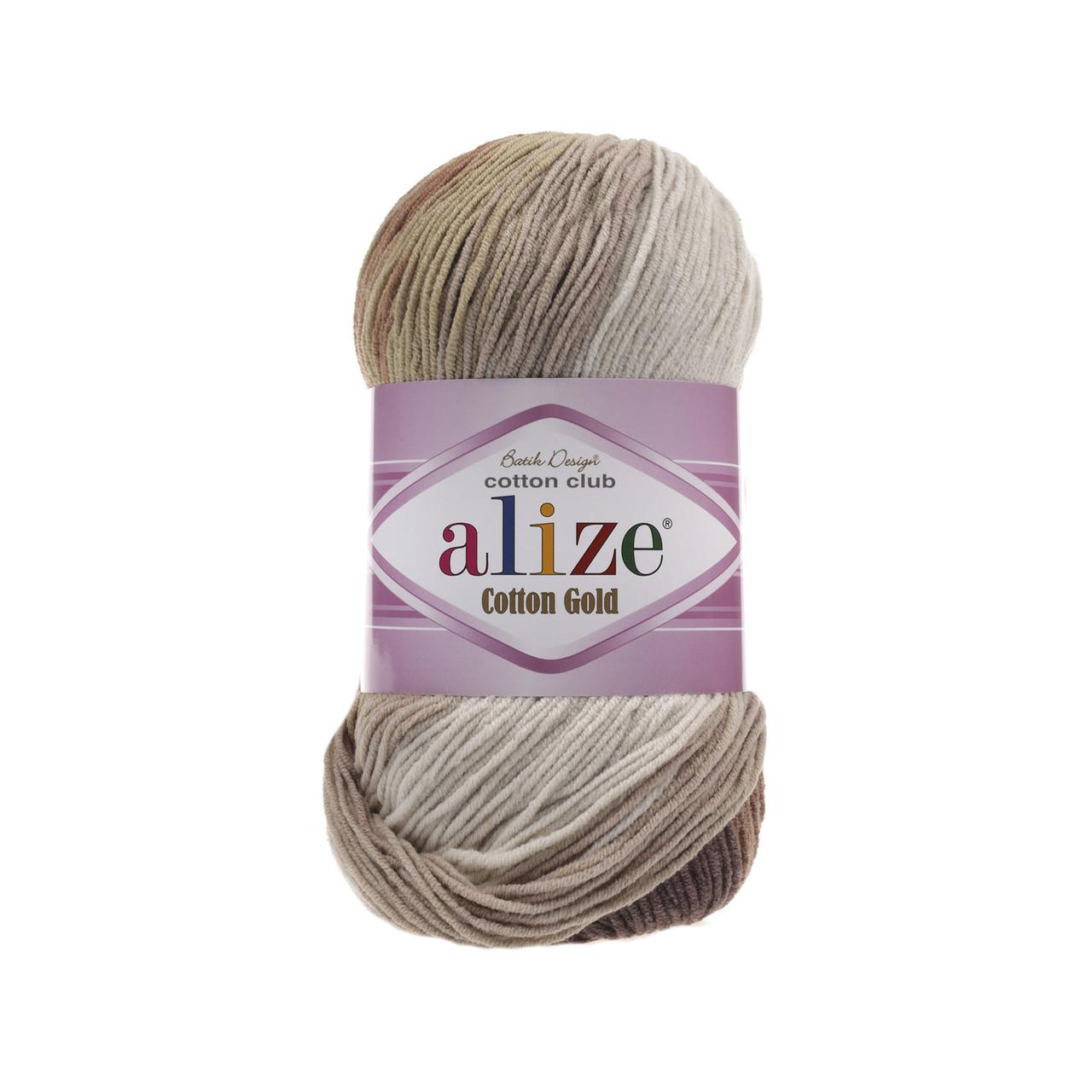Пряжа Alize Cotton Gold Batik №3300