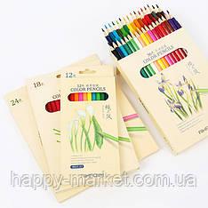 Карандаши цветные 18 цв. AIHAO в картонной коробке 9015-18