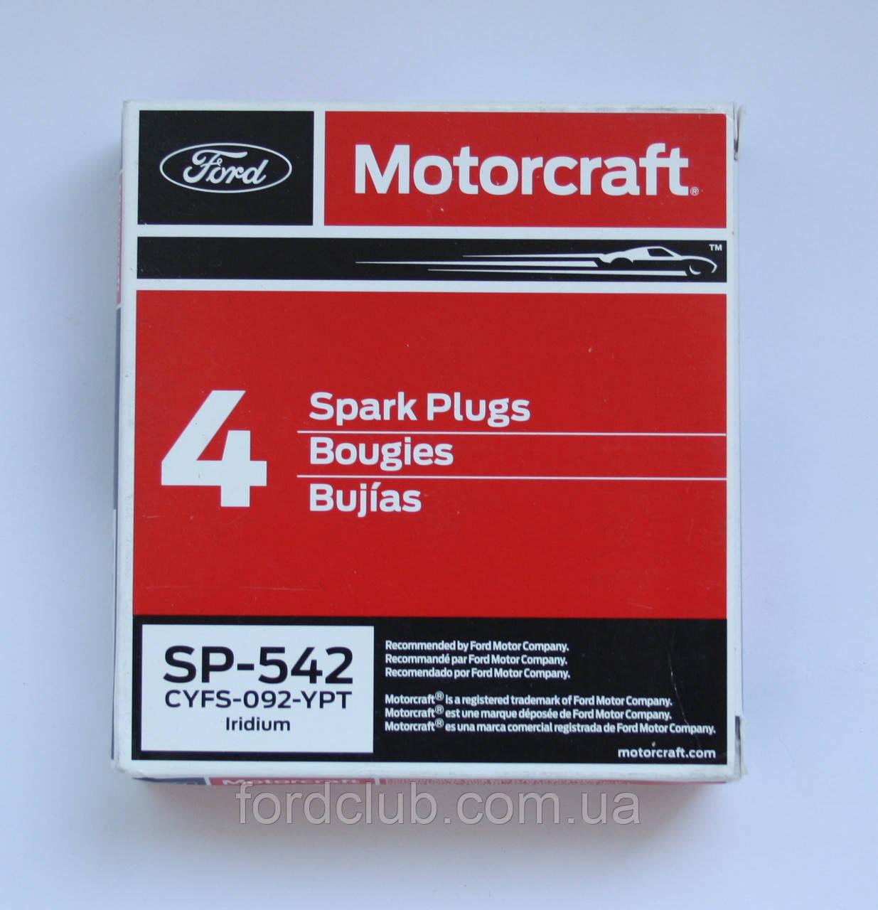 Свечи Ford Fusion USA 2.7; Motorcraft SP-542 6 шт