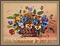 Картина Натюрморт цветы 500х700 мм в багетной раме №663