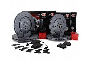 Комплект диски колодки Zimmermann Audi RS6 C6