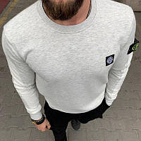 Мужской брендовый свитшот (серый) - Турция, фото 1