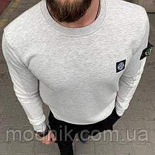 Мужской брендовый свитшот (серый) - Турция