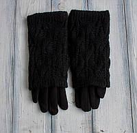 Стрейч+ вязка Большие черные, фото 1