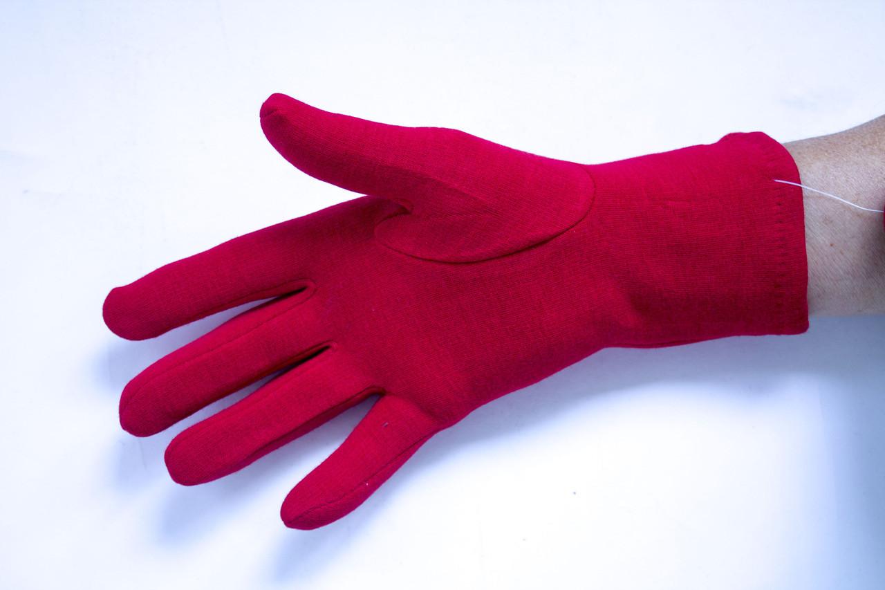 Трикотажные красные перчатки Большие