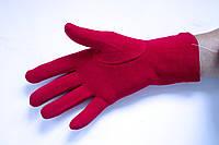 Трикотажные красные перчатки Большие, фото 1