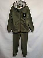 Спортивный утепленный костюм  #1911 детский. 7-11 лет (122-146 см). Хаки. Оптом