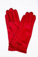 Женские стрейчевые перчатки Красные 119S1, фото 1